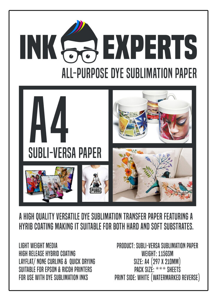 120gsm A3 Dye Sublimation Paper 500 sheets Ideal for Mug or T-shirts